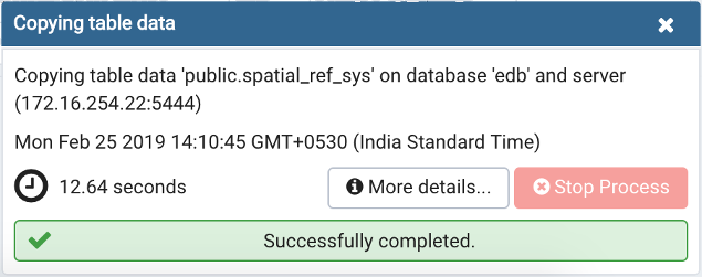 Import Export data completion notification