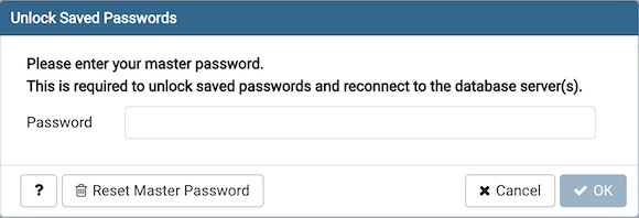 Enter master password