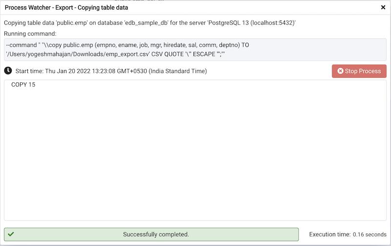 Import/Export Data Dialog — pgAdmin 4 4 11 documentation
