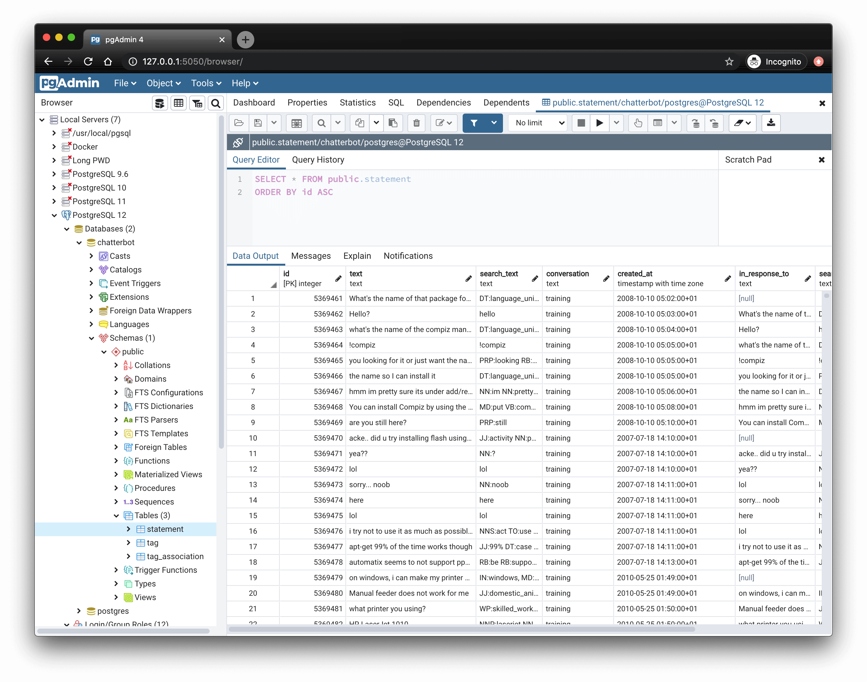 Query tool & data editor